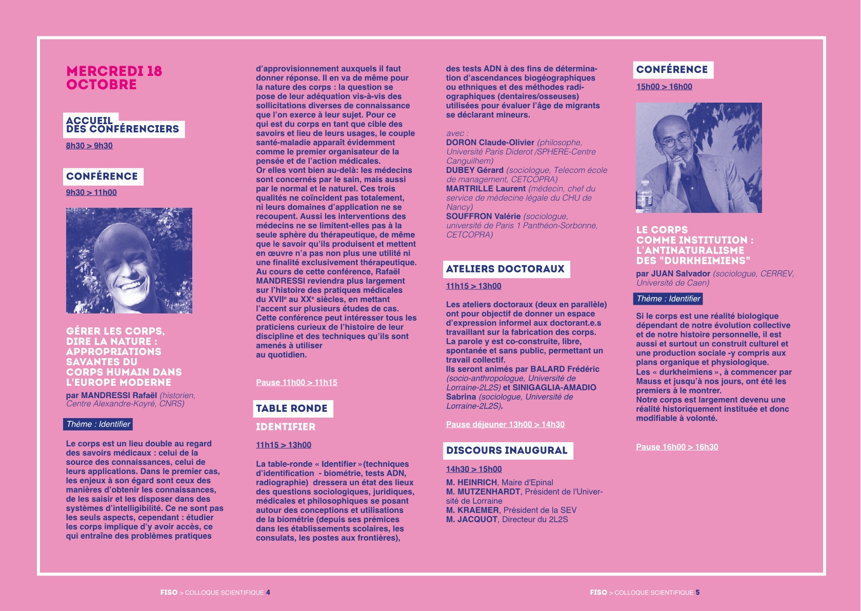 p1 programme scientifique